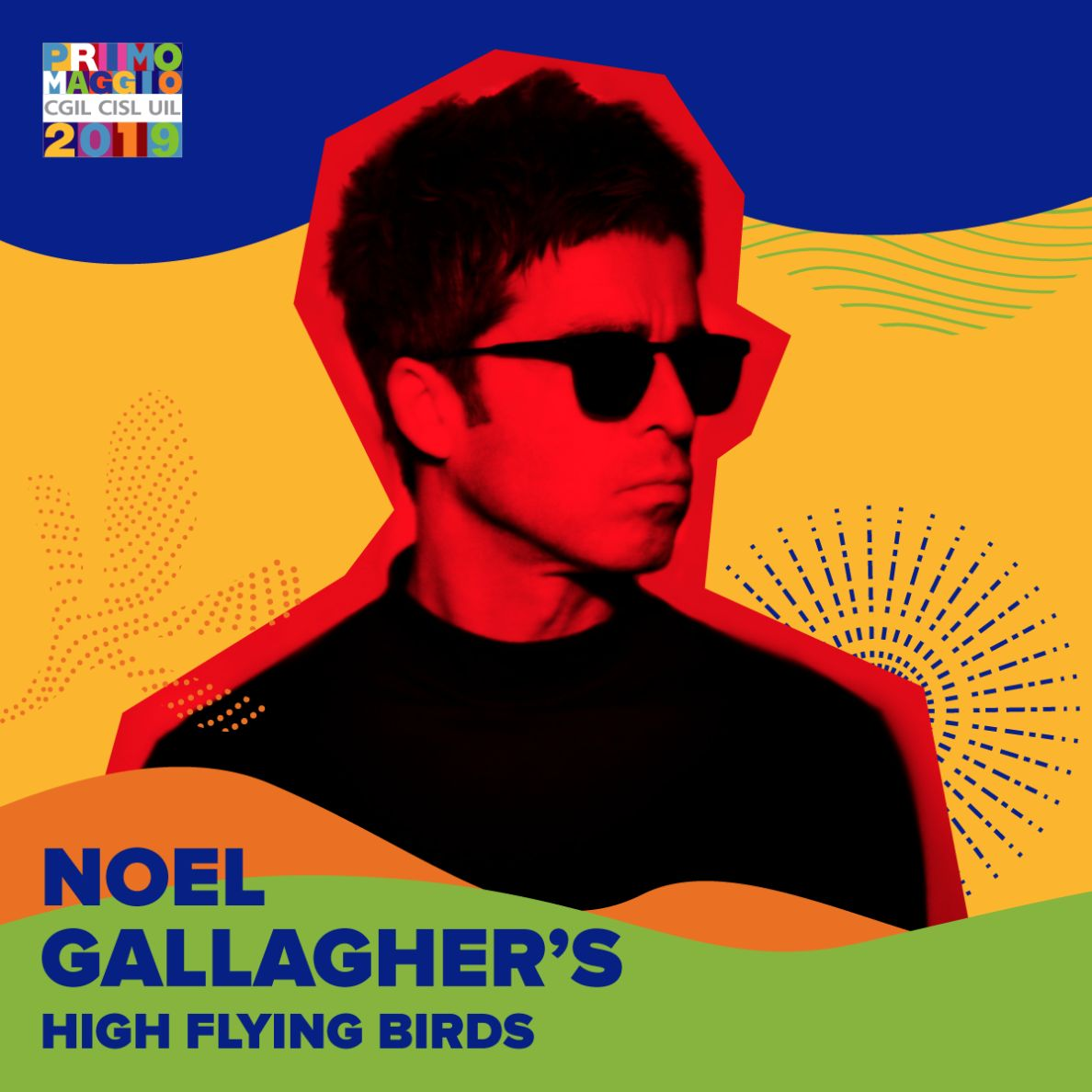 NOEL GALLAGHER'S HIGH FLYING BIRDS al CONCERTO DEL PRIMO MAGGIO 2019